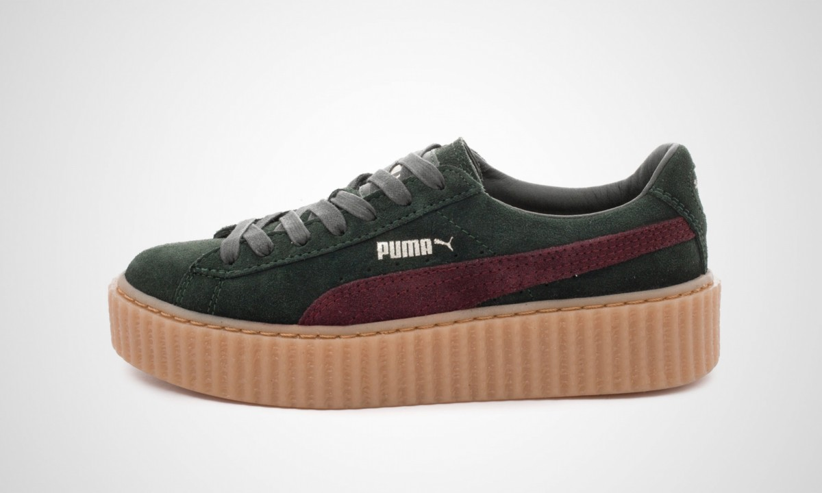 puma x rihanna suede creepers green der sneakerblog. Black Bedroom Furniture Sets. Home Design Ideas